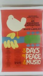 1969 Woodstock Poster Linen Backed 24 X 36 By Skolnick Plus Aug 1969 Life Mag