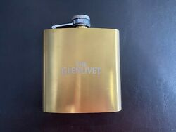 New The Glenlivetscotch Whisky Stainless Steel 6oz Flask Gold Tone