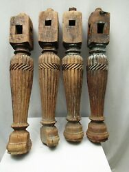 Antique Four Indian Bed Legs Indian Charpoy Old Carved Legs Furniture Khatlo 2