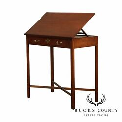 Chippendale Style Antique Cherry Architects Desk Drawing Table