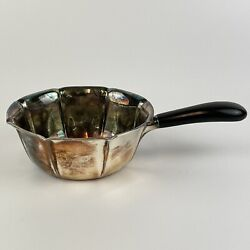 Vintage Solid Andldquo830andrdquo Silver Swedish Cohr Brandy Pan Ebonised Handle Mid Century