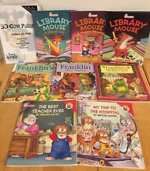 Lot Of 9 Chick-fil-a Kids Meal Books And Activities Franklin, Library Mouse And More