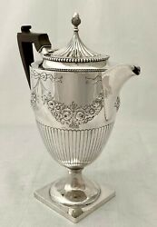 Edwardian Silver Coffee Pot. Birmingham 1904 George Nathan And Ridley Hayes.