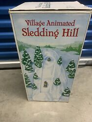 Department 56 Village Animated Sledding Hill With Box Needs Belt