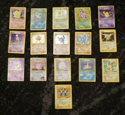 VINTAGE POKEMON 16 CARD LOT HOLOGRAPHIC HOLO FOILS BASE FOSSIL AND JUNGLE SET $550.00