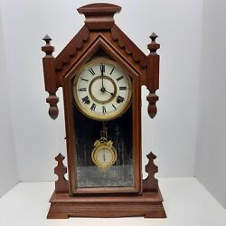 Ansonia Andldquoafricaandrdquo Model Kitchen Mantle Clock Works And Chimes Correctly