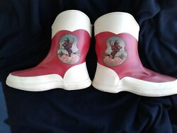 Rare Vintage 1950s Gene Autry Rubber Boots Original Appears Never Used