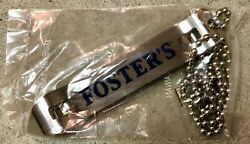 Fosters Beer Vintage Bottle Opener And Necklace New In Package