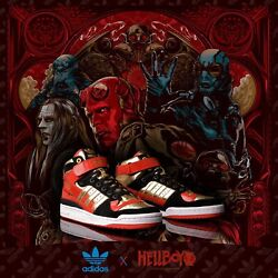Adidas Originals X Hellboy The Golden Army Limited Edition Forum Mid Sneakers