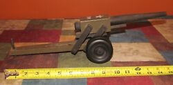 Vintage Victory Products Wooden Us Army 75mm Cannon On Wheels W/ Clicker