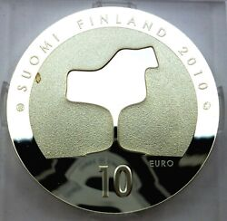 Finland 10 Euro 2010 Silver Coin Proof - Eero Saarinen And Architecture