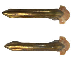 Pair Art Deco 1920and039s Decorative Cabinet Drawer Pulls Handles Knobs 5 1/2