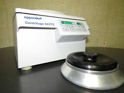 Eppendorf 5417 Centrifuge W/ 45-30-11 Rotor And Lid - Great Working Condition