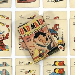 Rare Vintage Ed U Cards Old Maid Circus Edition Playing Card Game Usa As Is