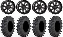 System 3 St-4 Black 14 Wheels 30 Outback Max Tires Yamaha Grizzly Rhino
