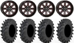 System 3 St-4 14 Wheels Red 30 Outback Max Tires Yamaha Grizzly Rhino