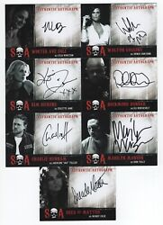 Sons Of Anarchy Seasons 6 And 7 Autograph Card Set - 14 Cards - W/ Marilyn Manson