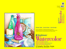 Strathmore 300 Series Watercolor Pad, 18 X 24 Inches, 140 Lb, 12 Sheets