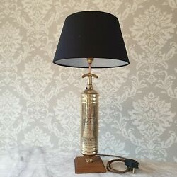 Minimax 1948 Brass Fire Extinguisher Table Lamp Retro Now Sold More Available
