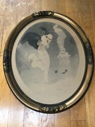 Louis Icart 1925 Snowstorm Rare Etching Hand Signed French Listed Framed Vintage