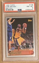 Kobe Bryant Rookie Card 1996 Topps Nba At 50th Foil 138 Psa 8 Rc Looks High End
