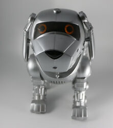 Tekno Interactive Robotic Puppy Dog Silver Vintage 90's By Manley Toy Quest
