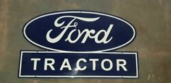 Porcelain Ford Tractor Enamel Sign Size 21 X 35 Inches