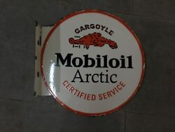 Porcelain Mobiloil Enamel Sign Size 16 Inches Double Sided