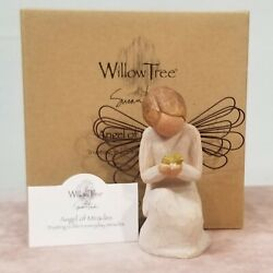 Willow Tree Figurine Angel Of Miracles New In Box With Display Card Wt37