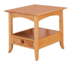 Amish Shaker Style Occasional Open End Table Home Furniture Solid Wood Cherry