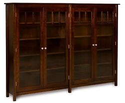 Amish Bookshelf Bookcase Solid Wood Wooden Furniture Office Kitchen Double New