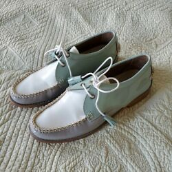 Bass Weejuns Oxfords With Tassled Shoe Laces Size Us 6.5 Pastel Mint Green
