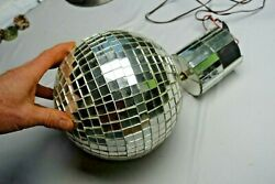 Disco Ball Glass Tile Mirror Turning Motor Old Style Real