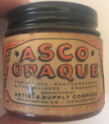 Vintage Artists Supply Company ASCO Opaque bottle