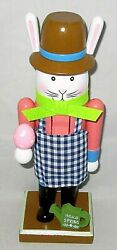 Easter 9 Bunny Nutcracker Holding Easter Egg /watering Can W/hello Spring