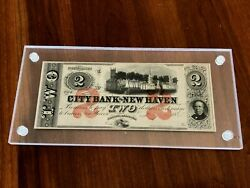 Obselete/confederate Acrylic Banknote Frame Holder Currency Display Dollar Case