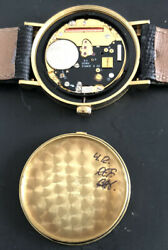 And Co. Solid 18k Gold Menandrsquos Atlas Quartz Watch In Excellent Condition.