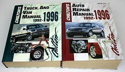 2 Chiltion's Manuals - Auto Repair And Truck And Van 1992-1996 Very Nice Condition