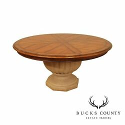 Henredon Tuscan Style 64 Inch Round Dining Table