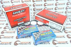 Manley For Supra 2jzgte W/ 94mm 3.4 Pistons And Rods And Arp Studs W/ Gasket 14027-6
