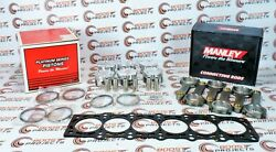 Manley For Toyota Supra Twin Turbo 2jzgte 3.0l Pistons And Rods W/ Gasket 14027-6