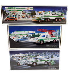 3 Hess Mint New Box-1991 Truck Racer/1994 Rescue/2004 Sport Utility Motorcycle