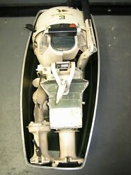 Vintage Johnson 1967 3 Hp Outboard Boat Motor Jwf 22s Folding With Case