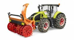 Bruder 03017 Claas Tractor With Snow Plow / 8 Br1 0544