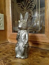 Vintage Peter Rabbit Figure Silver Metal Coin Bank F.warne And Co Godingcer
