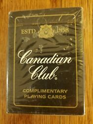 Rare Vintage Canadian Club Whiskey Playing Cards Deck Complete New Sealed
