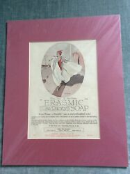 Vintage Mounted Print Advert For Erasmic The Dainty Soap Aug 1922.vgc