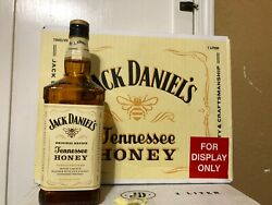 Jack Daniels Tennessee Honey Whiskey Display Bottle 12 And The Case