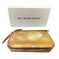 Burberry Cosmetic Bag For Women Gold $14.99