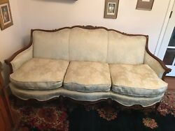 Antique Vintage Sofa And Chair - Louis Xv Style